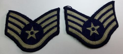 Post WW2 USAF Cloth Rank Insignia Pair