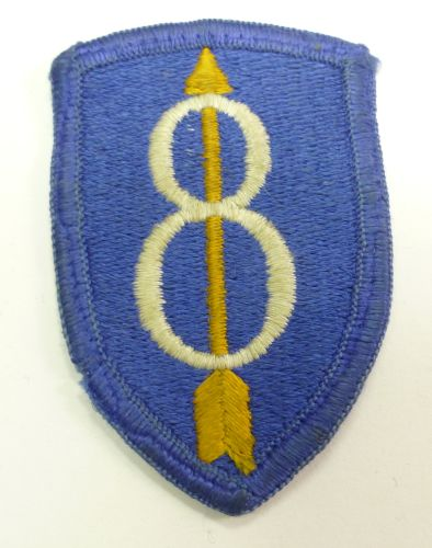 WW2 Era US Army 8th Infantry Division Cloth Badge