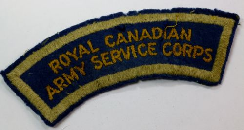 WW2 Royal Canadian Army Service Corps Cloth Badge