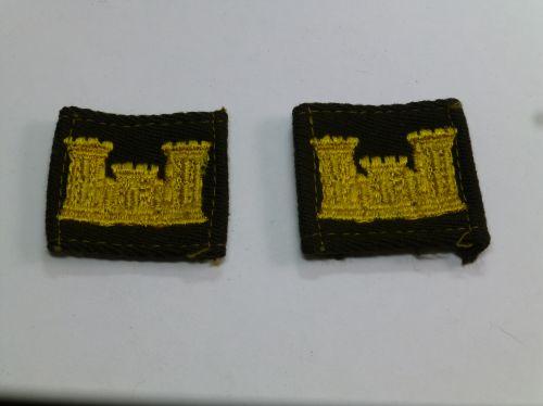 Original WW2 US Army Engineers Cloth Insignia Pair