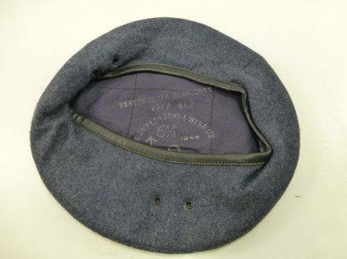 Mint WW2 Pat RAF & ROC Issue Blue Grey Beret 22F/869