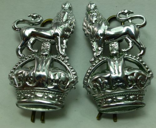 Original WW2 – 1950s British Police White Metal Collar Badges