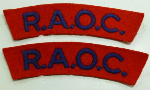 Original WW2 Royal Army Ordnance Corps Cloth Titles