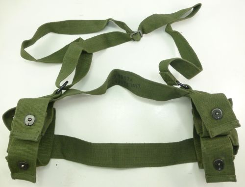 Original 1960 Dated Webbing Carrier for Energa Grenades