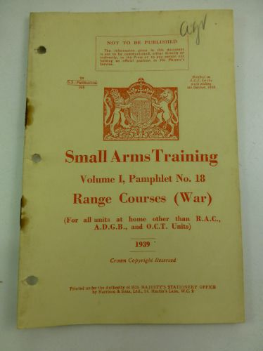 Small Arms Training Pamphlet Range Courses War
