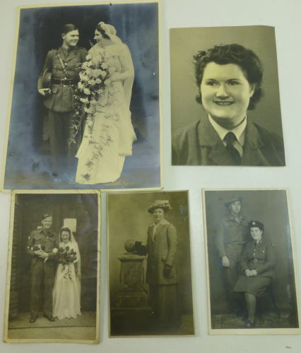 WW2 British Military Related Wedding Photos