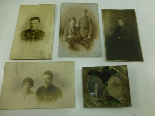 5 Original WW1 Photographs All Showing the Same Man