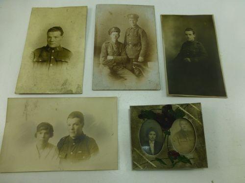5 Original WW1 Photographs All Showing the Same Man