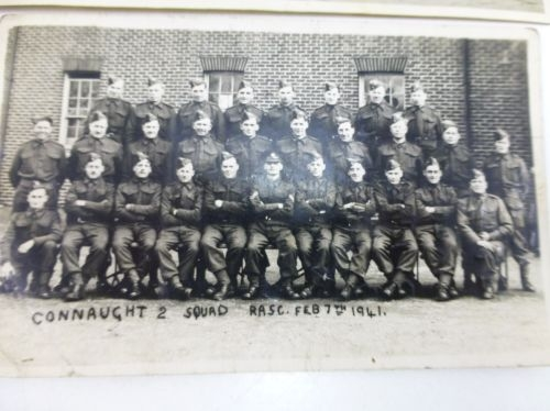2 Photos Of RASC 1941 Dettingen, Blackdown, Deepcut Barracks