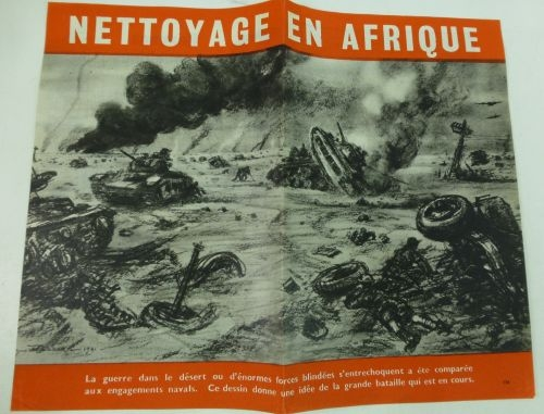 WW2 Propaganda Leaflet Dropped On French Vichy North Africa