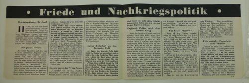 Wartime British Propaganda leaflet Nach Hitlers Sturz