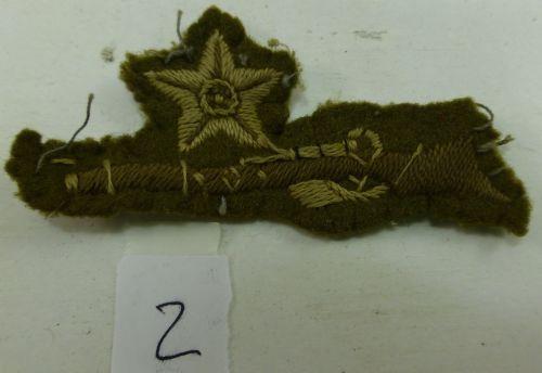 2 Original Star over Rifle Marksman's Cloth Badge 1930s WW2