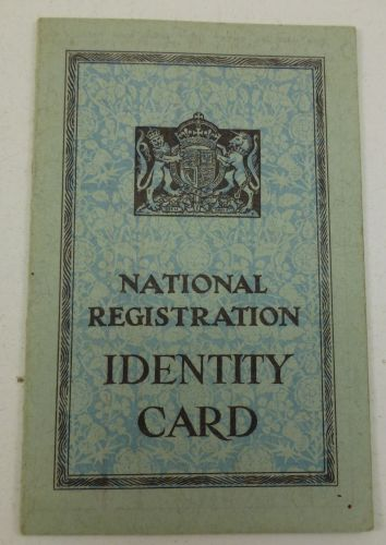 Original 1943 National Registration ID Card M.Steer Sevenoaks