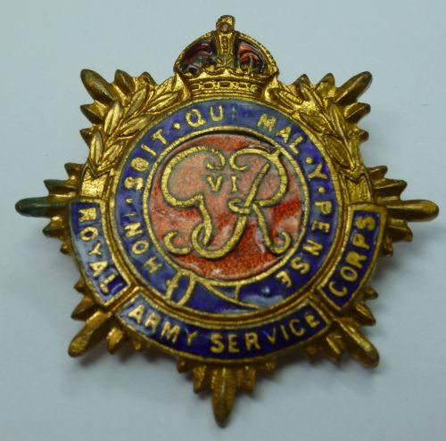 WW2 British Royal Army Service Corps Sweetheart