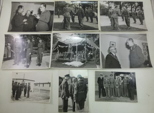 A set of 9 early 1950s Photos 49 AA Workshop Coy REME