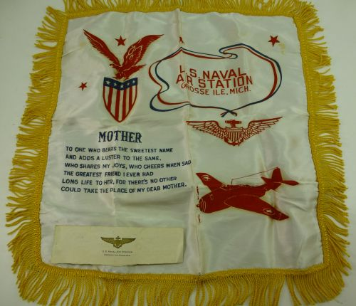 WW2 US Naval Air Station Grosse, ILE, Mich Cushion Cover