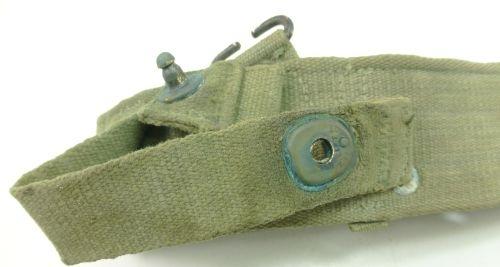3 Original British Army 1944 Pattern Web Belt Dated 1945