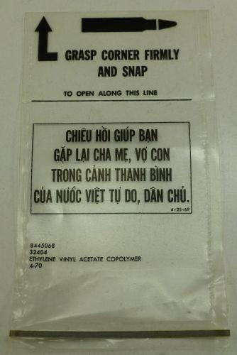 10 US Army Disposable Mag Bags & Propaganda