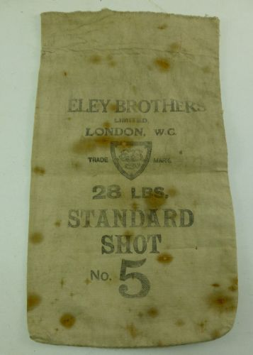 Vintage Eley Brothers Ltd Bag 28 Lbs Standard Shot No5