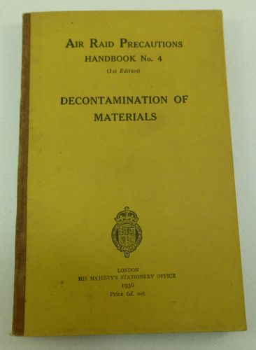 1936 ARP Handbook No4 Decontamination of Materials