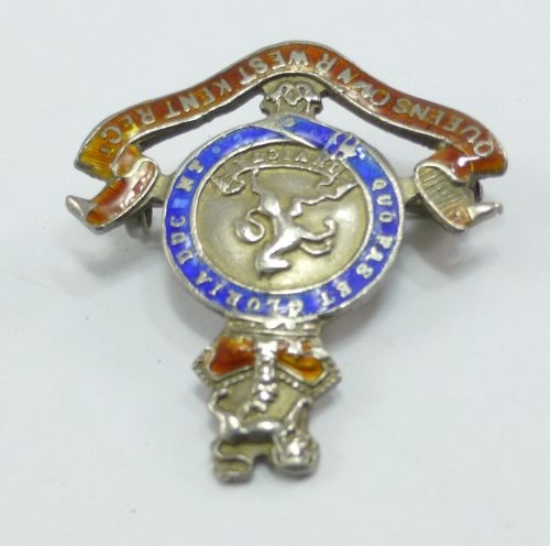 Victorian Queens Own Royal West Kent Brooch
