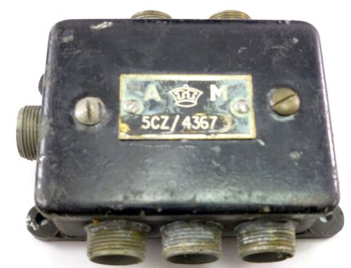 WW2 RAF Air Ministry Junction Box AM 5CZ/4367