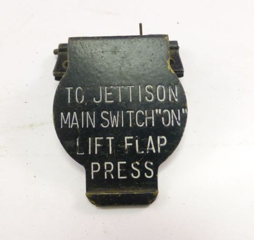 WW2 RAF Jettison Switch Spring Cover