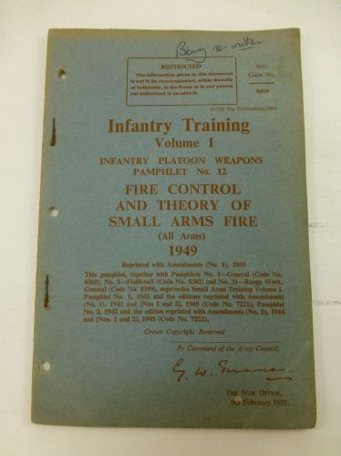 Infantry Training Vol I Infantry Platoon Weapons No 12
