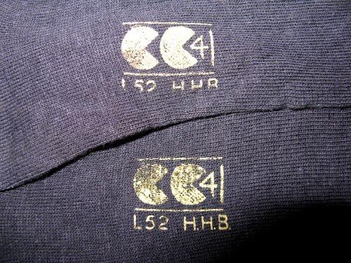 Mint WW2 British Royal Navy & RAF Issue CC41 Marked Socks