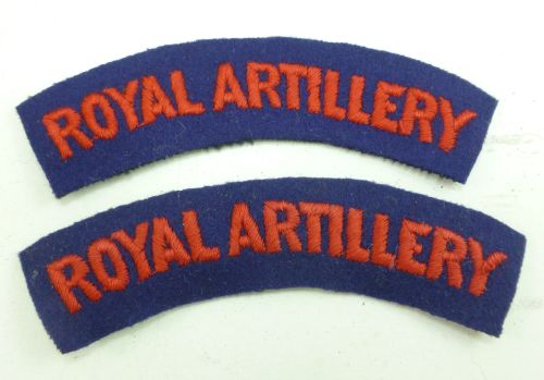 Original WW2 Royal Artillery Cloth Shoulder Titles