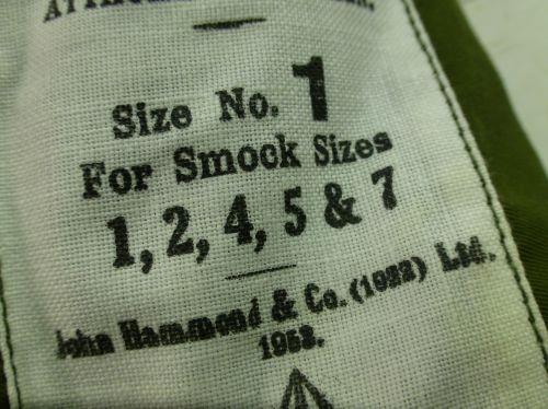 Original Early 1950s Dated Sateen Combat Smock Hood