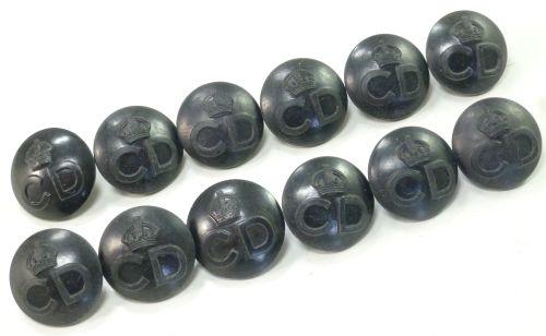 A Set of 12 Original WW2 Civil Defence Buttons