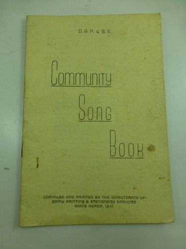 1941 Army Community Song Book In British/African