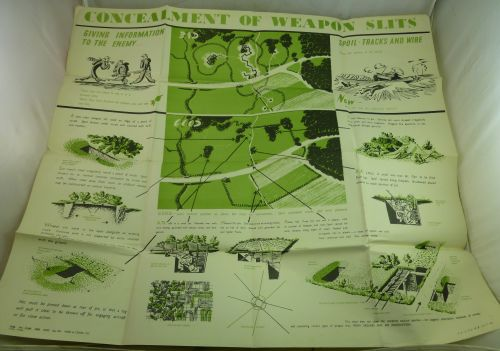 Original WW2 Poster Concealment Of Weapons Slits 1941