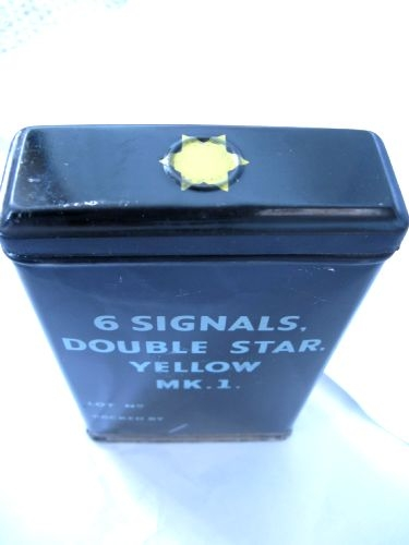 WW2 Dated British Army Issue Flares Tin Yellow