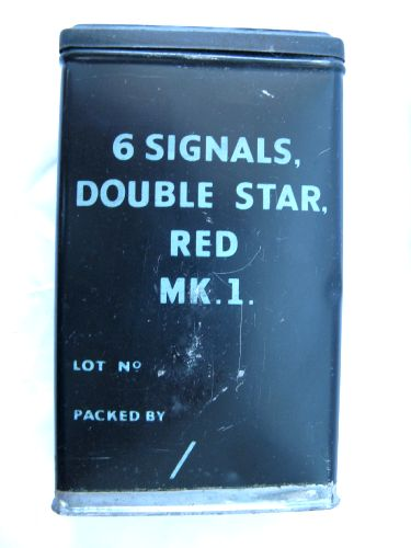 Original WW2 British Army Issue Red Flares Tin