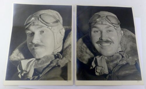 Interesting pair of Large Photos Showing US Airman