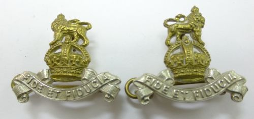 Excellent Original Royal Army Pay Corps Collar Dogs