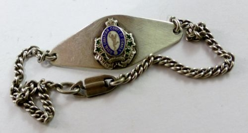 Lovely Royal Canadian Corps of Signals Sweetheart Bracelet