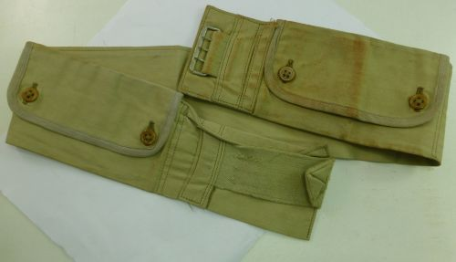 WW2 British Army Tropical Money Belt with Pockets