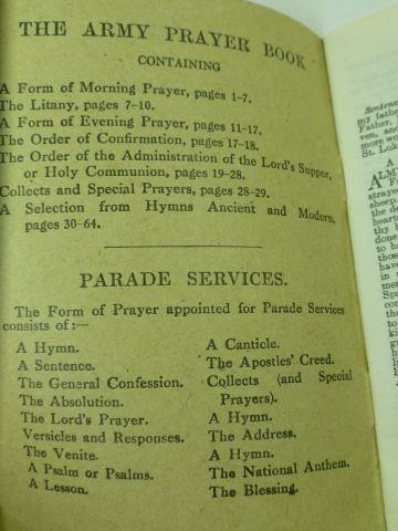 Excellent Original 1943 Dated British Army Prayer Book