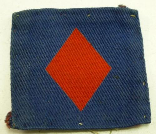Original WW2 British 61st Infantry Division Cloth Badge