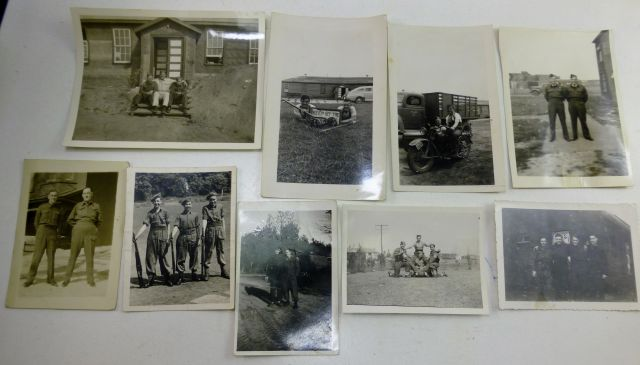 A set of 9 Original WW2 Era Canadian Military Photos