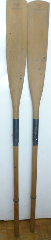 WW2 British Army Fold Up Boat Oars Dated 1944