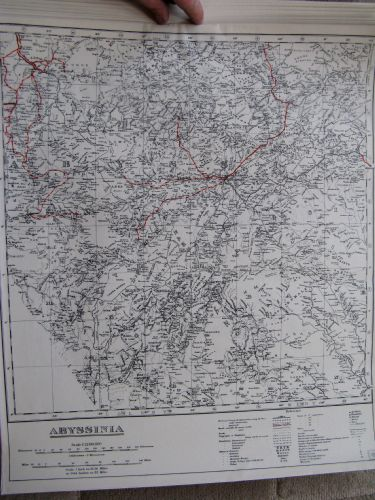 WW2 SOE, RAF MULBERRY LEAF TISSUE ESCAPE MAP ABYSSINIA