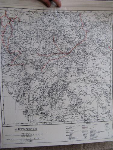 WW2 SOE, RAF MULBERRY LEAF TISSUE ESCAPE MAP ABYSSINIA