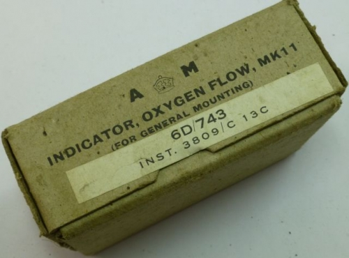 WW2 RAF Oxygen Flow Indicator MKII, In Original Box