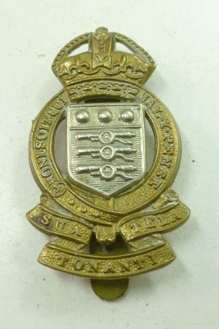 Short Lived RAOC Cap Badge Sua Tonanti Tela