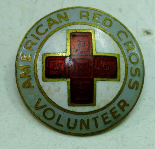 Vintage American Red Cross Volunteers Pin Badge