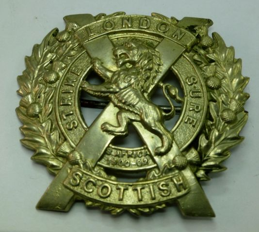 Original WW1 WW2 London Scottish Cap Badge Brooch